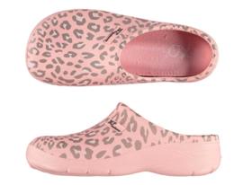 Dames Tuinklompen   Garden Clogs   Roze Leopard