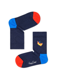 Happy Socks Kids Hotdog Embroidery Socks