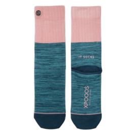 XPooos Essential Bamboo Sokken Ocean/Salmon Mel. 77001