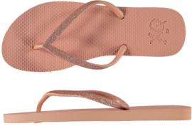 Flip flops Dames   Teenslippers Roze met glitters