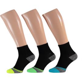 X-treme Men Running | Hardloop sokken | Multi Black | 3-Pack