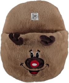 HomeSocks Christmas Giant Home Slippers Rudolf
