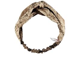 Sarlini Fashion Elastische haarband Bow | Snake Sand