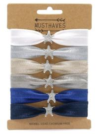 Elastische Hair Tie of Armbanden | Stars B0077