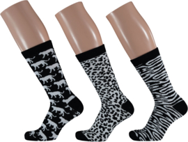 Apollo Animal Black & White Socks | 3-Pack Giftbox | Maat 36-41