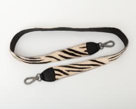 Bag2Bag Verwisselbare schouderband Zebra zwart 130cm