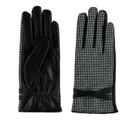 Sarlini fijn gebreide Dames handschoen Pierre de Pu met riempje