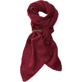 LOT83 | Bo | Lange knitted Gebreide Sjaal | Wijnrood