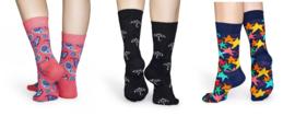 Happy Socks Zip 3-Pack Gift Etui, Maat 36/40