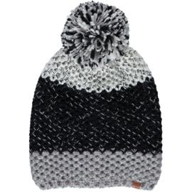 Sarlini   Knitted Dames Wintermuts Zwart Grijs   Eline