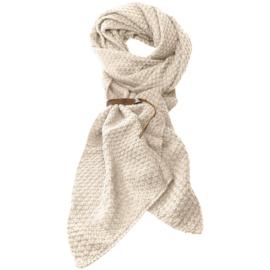 LOT83 | Bo | Lange knitted Gebreide Sjaal | Beige