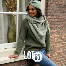 LOT83   Knitted Gebreide trui   Vera Kaki