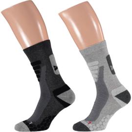 X-treme Walking | Wandel sokken | Multi Grey | 2-Pack