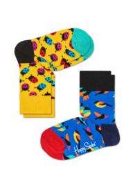Happy Socks Kids 2-pack Ladybug Sokken KLAB02-2000