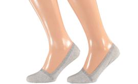 Sarlini invisible sneakersok | 2-pack | Grijs | Maat 36/41