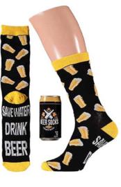 Apollo | BIER | Zwart Bierblikje met een leuk paar sokken