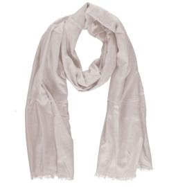 Sarlini lange Dames sjaal met subtiele zilver glanslook | Ecru Kit