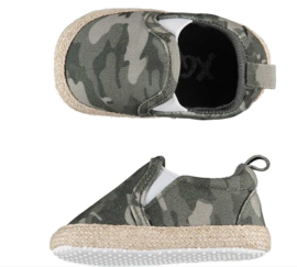 XQ Little Shoes | Instappers voor boy or girl | Camouflage