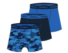 O'Neill 3-Pack Heren Boxershorts Camouflage Blauw | 900123