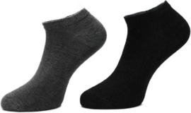 Boru Bamboo Short Sneaker Sok | 2-Pack | Donkergrijs & LichtGrijs