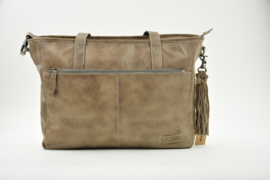 Bag2Bag Dames Werktas - Laptoptas Madison Grey/Brownish