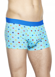 Happy Socks Men's Trunk Dots Licht Blauw