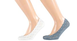 Sarlini Dames invisible sneakersok   2-pack   Hearts   Maat 36-41