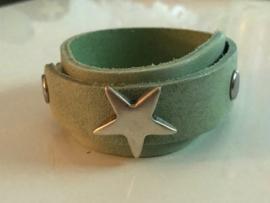 Ster armband overlap mint groen