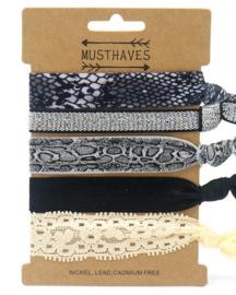 Elastische Hair Tie of Armbanden | Animal C0193