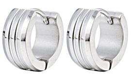 Creool Oorbellen Edelstaal, Stainless Steel 13mm OB0198