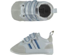 Baby Jongens sportschoentje | Wit Blauw met Klittenband