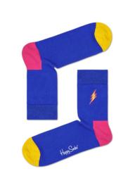 Happy Socks Flash Embroidery Half Crew Socks