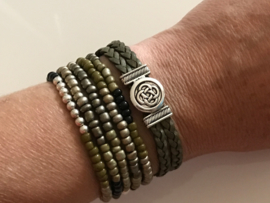 ByJou armbanden Set |  leer Fantasy Green