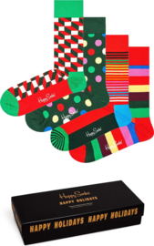 Happy Socks Christmas Classic Holiday 4-Pack Giftbox
