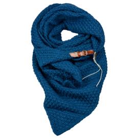 Gebreide Knitten Royale omslagdoek | wintersjaal Lot, Blauw