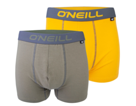 O'Neill Heren Boxershorts 2-Pack Olive & Gold   900012