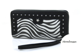 Zwart/Wit zebra portemonnee Mombassa