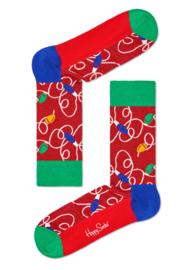 Happy Socks Christmas Holiday Lights Sock Glitters