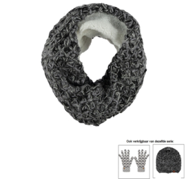 Sarlini Knitted Snood Colsjaal Zwart