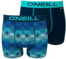 O'Neill Heren Boxershorts Wave Blauw | 2-pack | 900582
