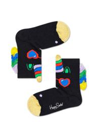Happy Socks Kids Unicorn Zwart Sock