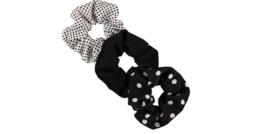 Sarlini Haarelastiek Scrunchies Dots Black and White | 3 stuks