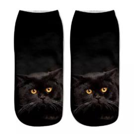 Dames Sneakersok Cats, Black Maat 36/39