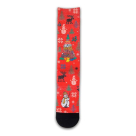 XPooos Socks, kerstsokken, Xmas Holly Jolly 60057