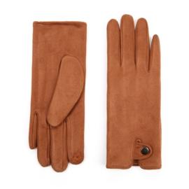Dames handschoenen Brown Camel voor Touch Screen