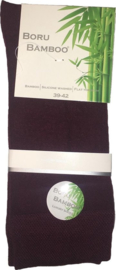 Boru Bamboo Sok | 2-Pack | Bordeaux Rood