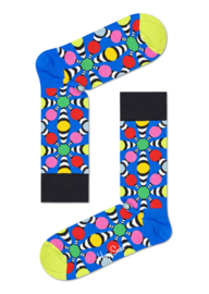 Happy Socks Illusion Big Dot Sock Blauw
