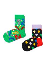 Happy Socks Kids 2-Pack Pen Socks