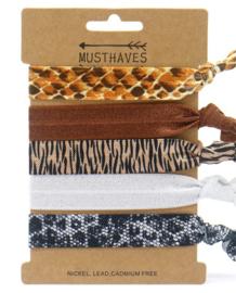 Elastische Hair Tie of Armbanden | Animal B0080