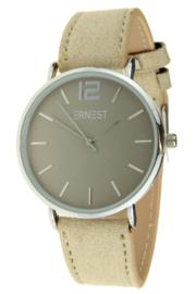 Ernest dames horloge, Silver Cindy SS18, Beige
